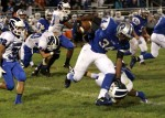 Oakcrest running back Terrence Smith escapes a Hammonton defender.